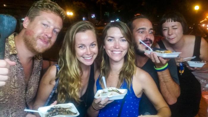 My Chiang Mai peeps hijacking a taco cart!