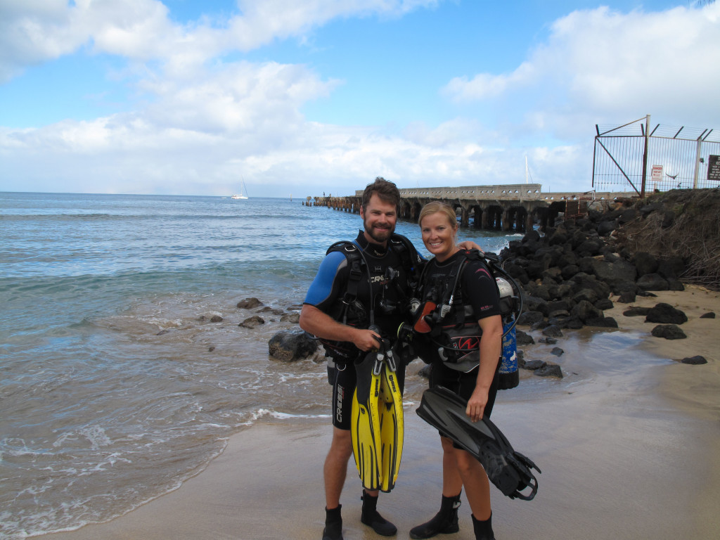 Scuba diving for fun - sure beats scrubbing the bottom!