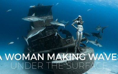 Freediver Liz Parkinson Loves Swimming with Sharks