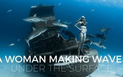Freediver Liz Parkinson Loves Swimming with Sharks
